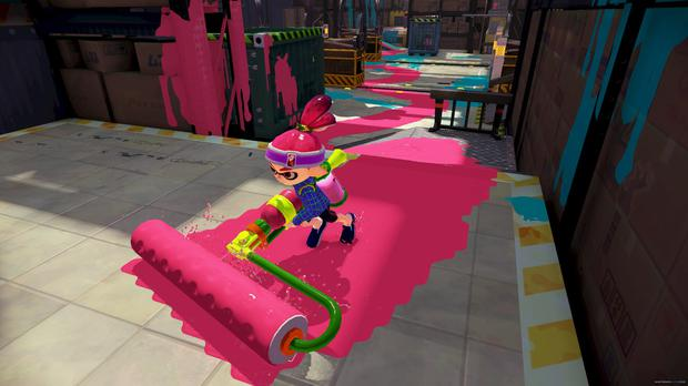 Splatoon: Paint as much of the floor as possible to win