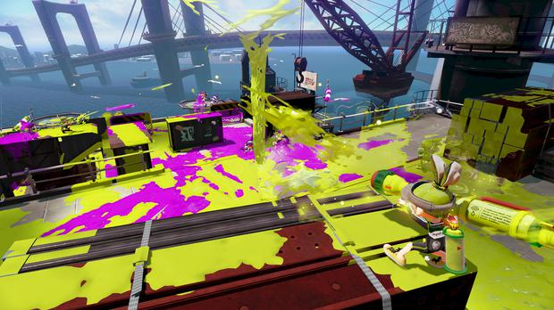 Splatoon: An interesting variety of weapons but a small number of levels