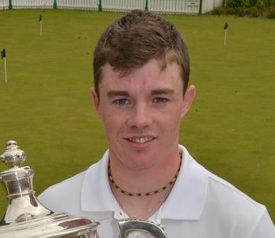 Winner Stuart Grehan after his victory in the City North Hotel East of Ireland Amateur Open at County Louth Golf Club yesterday
