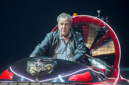 Jeremy Clarkson during the opening night of Clarkson, Hammond and May Live at the Odyssey Arena in Belfast (Liam McBurney/PA Wire)