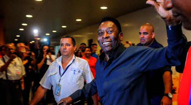 Pele is supporting Sepp Blatter's bid to continue running world football as the Fifa president prepares for his toughest-ever election battle (Getty Images)