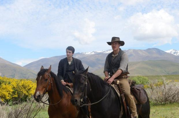 Michael Fassbender and Kodi Smit-McPhee in Slow West