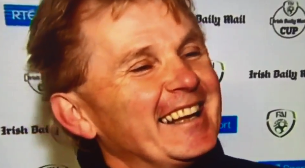 Liam Buckley couldn't contain his laughter