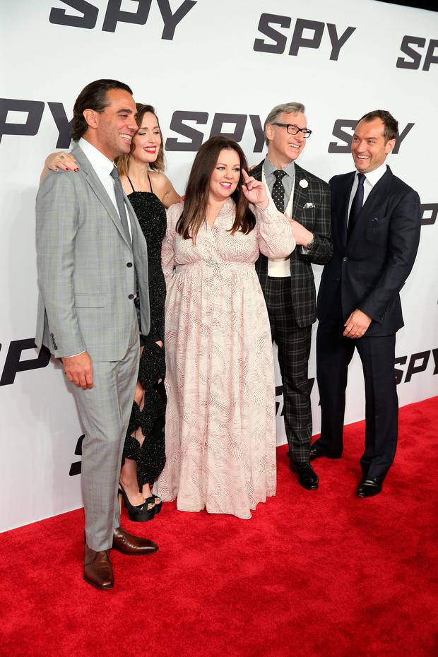 Bobby Cannavale, Rose Byrne, Melissa McCarthy, Paul Feig and Jude Law attend the 'Spy' New York Premiere at AMC Loews Lincoln Square on June 1, 2015 in New York City.