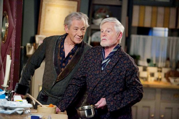 Ian McKellen as Freddie and Derek Jacobi as Stuart in Vicious