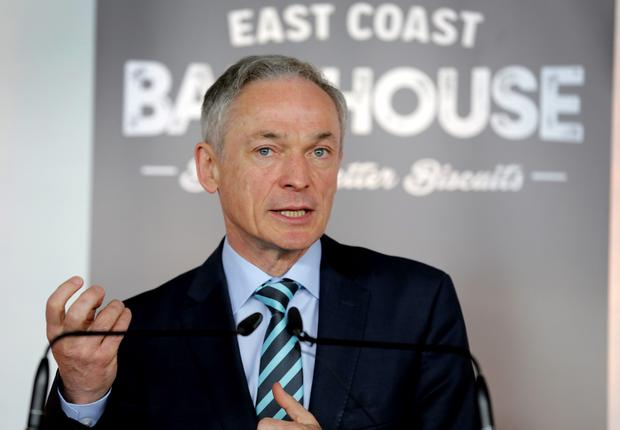 Minister for Jobs Enterprise and Innovation Richard Bruton pictured at launch of the East Coast bakehouse
