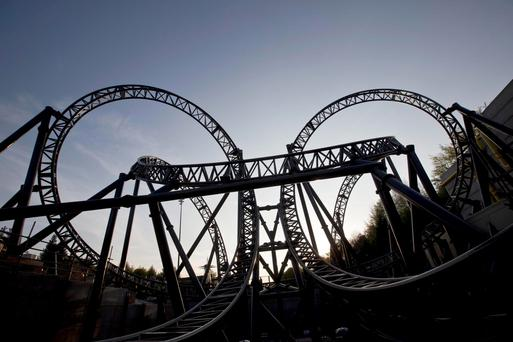 The Smiler ride at Alton Towers Resort in Staffordshire. Earlier this year sixteen people were involved in a collision between two carriages at Alton Towers amusement park's Smiler attraction. Fabio De Paola/PA Wire