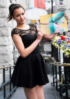 Galway Girl Nicole Cole, cover girl of this year's Programme for the Galway International Arts Festival. Photo:Andrew Downes