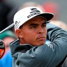 Rickie Fowler in action at the Irish Open