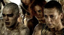 Charlize Theron, Nicholas Hoult and Rosie Huntington Whiteley in 'Mad Max: Fury Road'