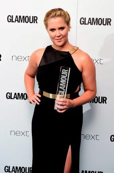 Amy Schumer with her Glamour Trailblazer award, at the Glamour Women of the Year Awards 2015 held at Berkeley Square Gardens, London