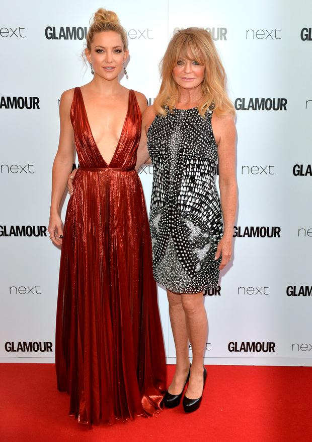 Kate Hudson and Goldie Hawn attend the Glamour Women Of The Year Awards at Berkeley Square Gardens on June 2, 2015 in London, England.