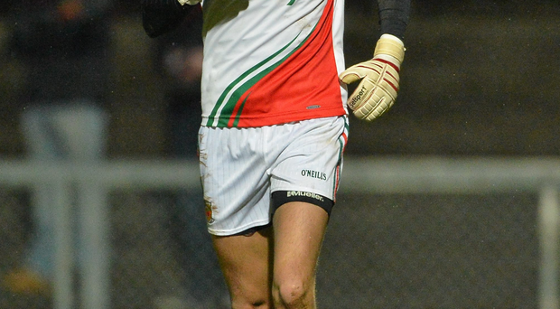 Kenneth O'Malley in action for Mayo in 2013