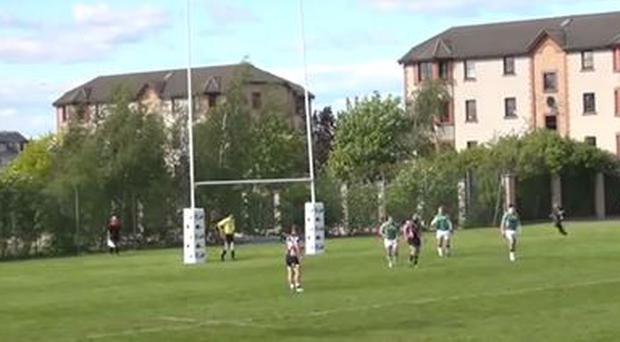 Diarmuid McCarthy scored a stunning try for the Ireland Sevens at the weekend
