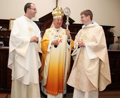 Archbishop Diarmuid Martin with Fr Paul Glennon and Fr Christopher Derwin