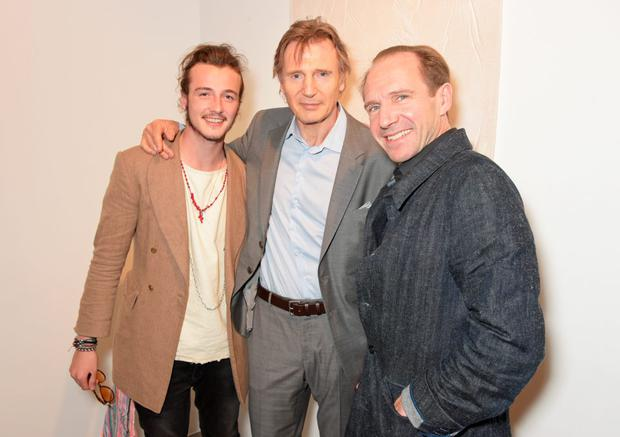 (L to R) Micheal Neeson, Liam Neeson and Ralph Fiennes attend the Maison Mais Non launch party as Micheal Neeson launches fashion gallery in Soho on June 2, 2015 in London, England. (Photo by David M. Benett/Getty Images for Maison Mais Non)