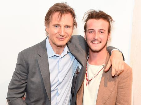 Liam Neeson (L ) and Michael Neeson attend the Maison Mais Non launch party as Micheal Neeson launches fashion gallery in Soho on June 2, 2015 in London, England. (Photo by David M. Benett/Getty Images for Maison Mais Non)