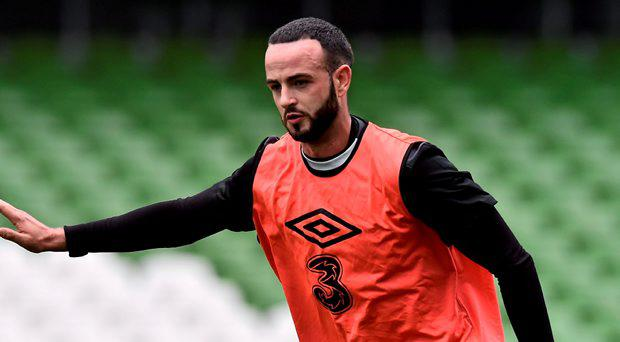 Republic of Ireland's Marc Wilson during squad training
