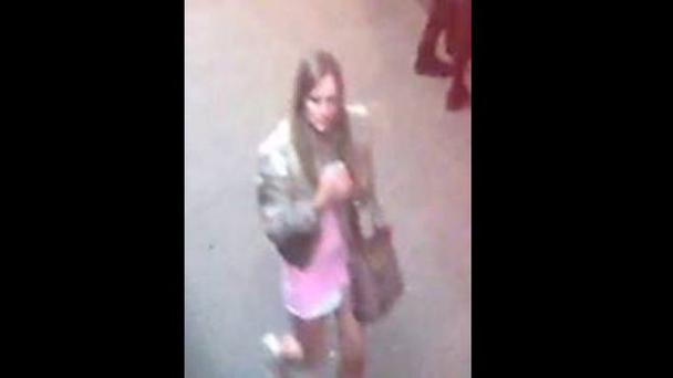 The woman police want to speak to. She is not connected with Karen's death