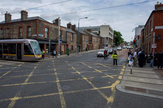First Red Light Camera System going live at junction of Blackhall Place and Ben Burb St. Luas line.