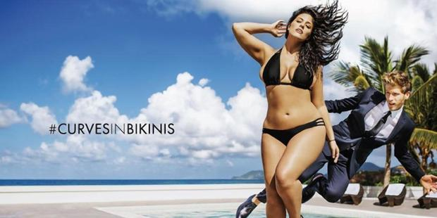 Ashley Graham featured in a teaser for Sports Illustrated in 2015