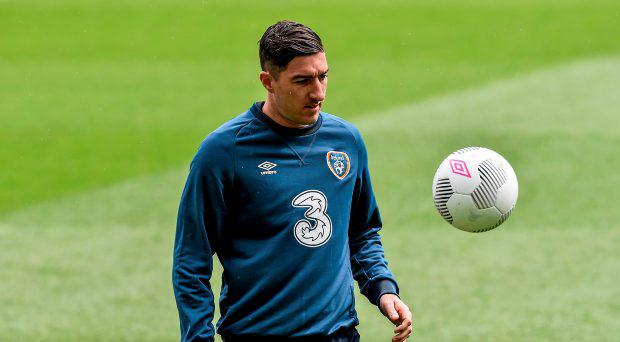 Republic of Ireland's Stephen Ward during squad training
