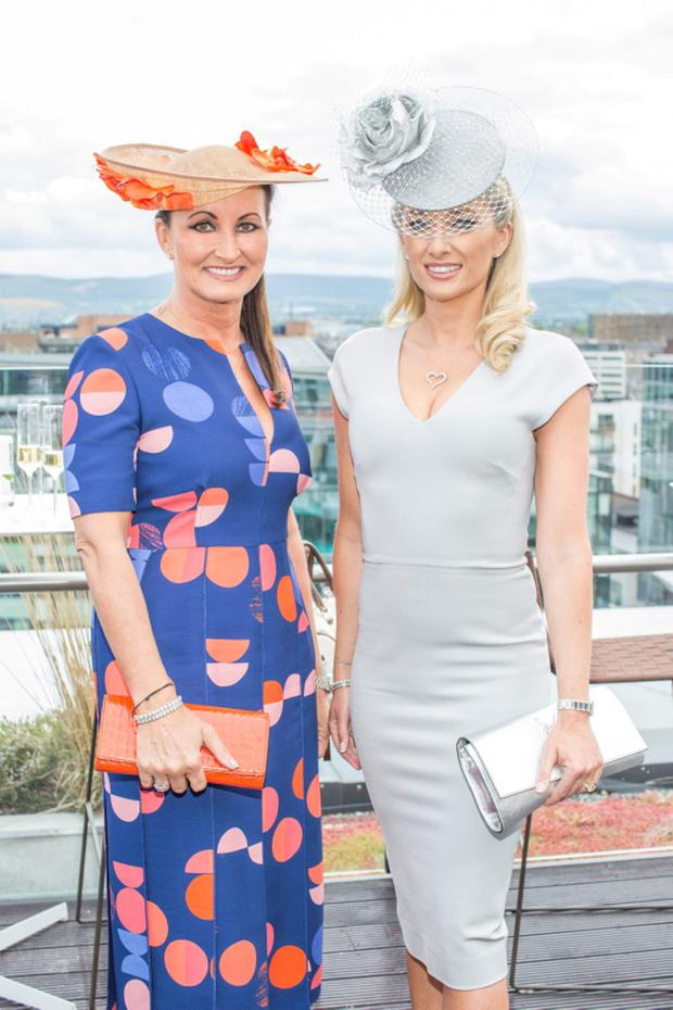 Annette Rocca & Jane Given pictured on Wednesday, 3rd June at The Marker hotel for the launch of the 2015 Dubai Duty Free Irish Derby