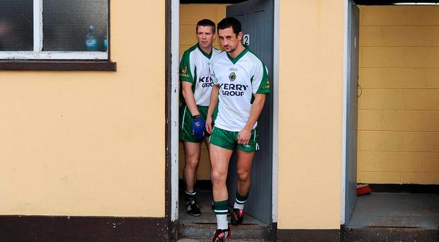 Tomas O Se and Paul Galvin leave the dressing rooms for training