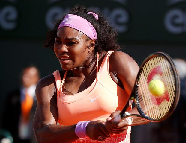Serena Williams looked unwell throughout her match with Timea Bacsinszky but still went on to claim victory