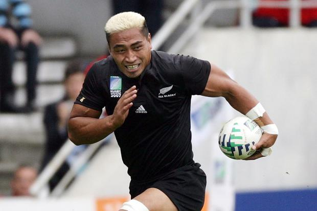 Jerry Collins during his playing days with the All Blacks