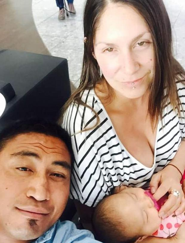 Jerry Collins and Alana Madil with their daughter Pic: Instagram