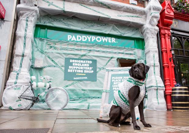 Paddy Power have moved to protect their closest shop to the ground by Yob-Proofing the exterior of their Baggot St branch