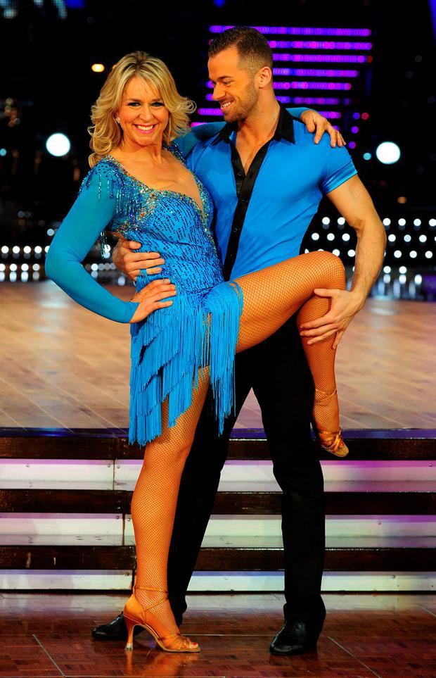 Fern Britton and Artem Chigvintsev during a photocall for Strickly Come Dancing-Live Tour at the NIA, Birmingham, as former Strictly Come Dancing star Artem Chigvintsev has denied claims by his one-time dance partner Fern Britton that he mistreated her on the show. PRESS ASSOCIATION Photo. Issue date: Friday June 5, 2015. The TV presenter told an event hosted by the Times that Chigvintsev would