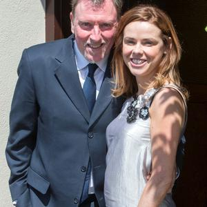 Paul Harrington and Karol Sadlier pictured at Mairead Farrell and Louis Ronan's wedding in Tipperary. Picture Dylan Vaughan.