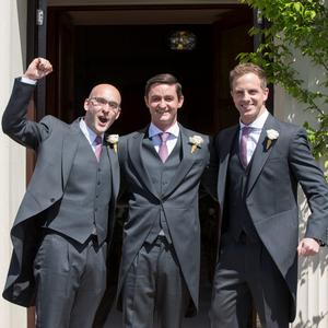 Philip O'Leary, Louis Rohan and Doug Fagan pictured at Mairead Farrell and Louis Ronan's wedding in Tipperary. Picture Dylan Vaughan.