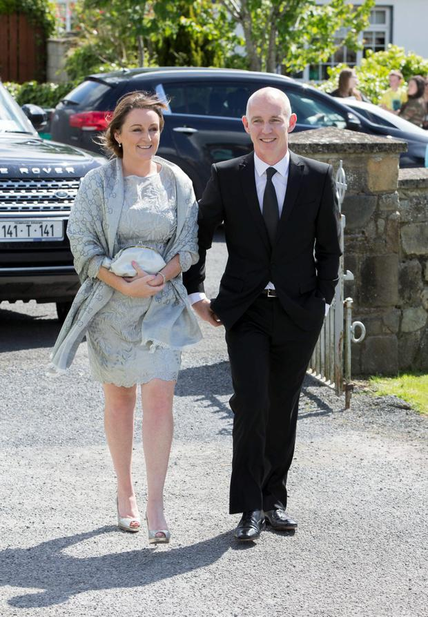 Jenny and Ray D'Arcy pictured at Mairead Farrell and Louis Ronan's wedding in Tipperary. Picture Dylan Vaughan.