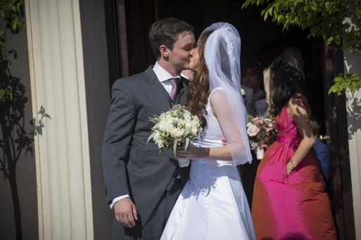 Mairead Farrell and Louis Ronan pictured after getting married in Tipperary. Picture Dylan Vaughan.