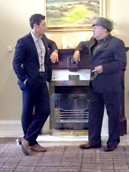 Rory McIlroy and Van Morrison take the opportunity to catch up at the Rory Foundation dinner in the Slieve Donard Hotel