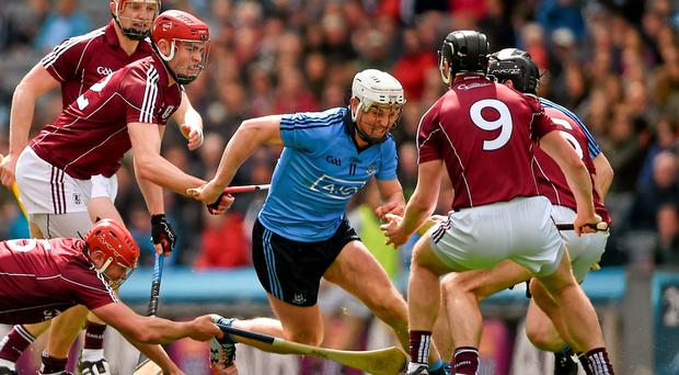 Liam Rushe will renew his battle with the Galway defence in O'Connor Park, Tullamore this afternoon