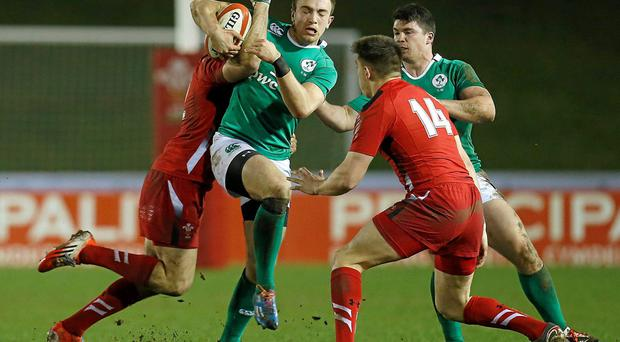 Ciaran Gaffney will replace Jacob Stockdale on Ireland U-20s' right wing for their clash with Scotland. Photo: Magi Haroun / SPORTSFILE