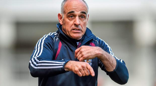 Galway manager Anthony Cunningham says Niall Burke has not yet reached full fitness after a shoulder problem. Photo: Stephen McCarthy / SPORTSFILE