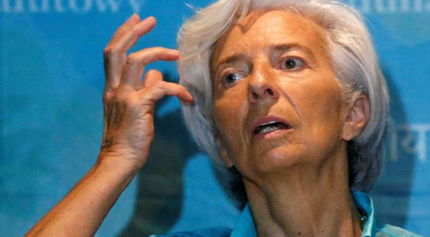 IMF chief Christine Lagarde was caught off guard by the Greek decision to withhold a €300m payment to the fund. Photo: Reuters