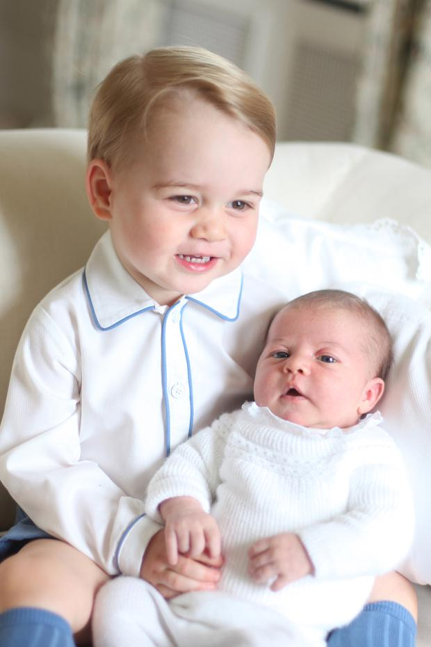 Photo released by the Duke and Duchess of Cambridge of Prince George and Princess Charlotte. The photograph was taken by the Duchess in mid-May at Anmer Hall in Norfolk