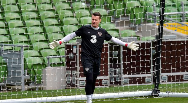 Shay Given: 'We need to win the game against Scotland, there's no dressing it up any way'. Photo: Charles McVeigh