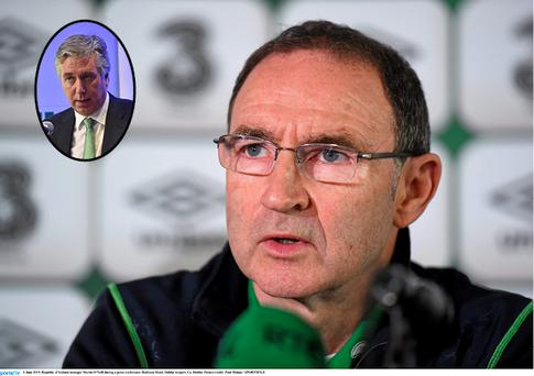 Martin O'Neill and (inset) John Delaney