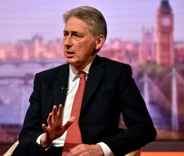 Foreign Secretary Philip Hammond appearing on BBC One's The Andrew Marr Show Credit: Jeff Overs/BBC