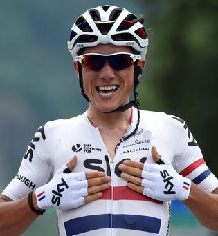 Peter Kennaugh retained his British Championship road race title