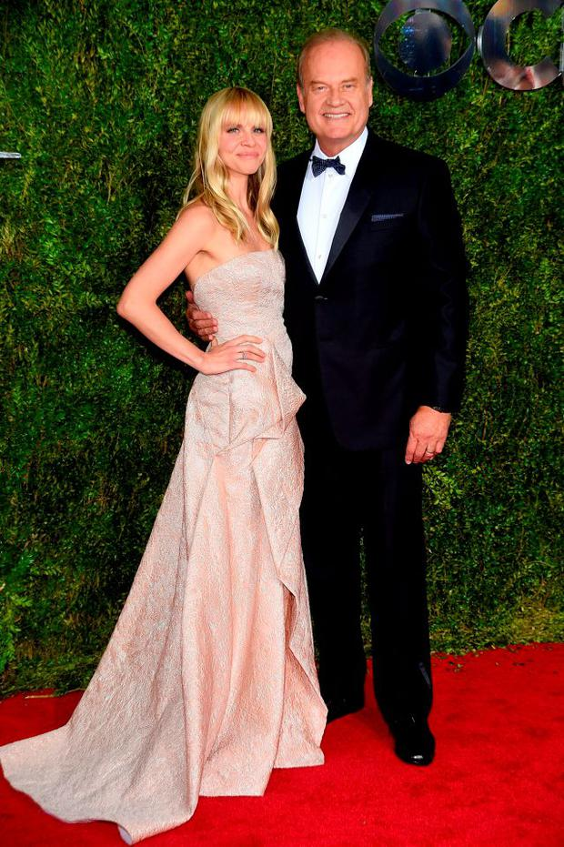 Kelsey Grammer (R) and Kayte Walsh attend the 2015 Tony Awards at Radio City Music Hall on June 7, 2015 in New York City. (Photo by Dimitrios Kambouris/Getty Images for Tony Awards Productions)