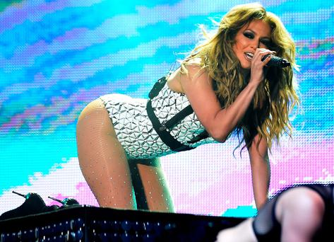 US singer Jennifer Lopez perfoms on stage during the 14th edition of the music festival Mawazine in Rabat on May 29, 2015. AFP PHOTO/ FADEL SENNA (Photo credit should read FADEL SENNA/AFP/Getty Images)
