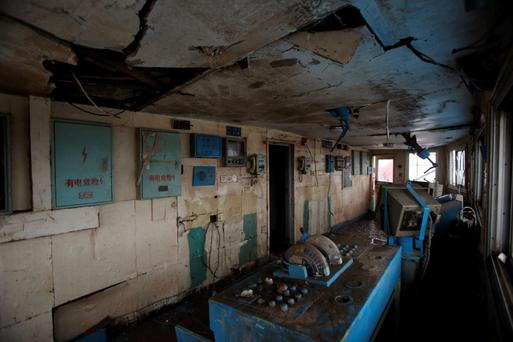 An interior view of the control room of the Eastern Star cruise ship, which capsized on the Jianli section of the Yangtze River, Hubei province, June 7, 2015. REUTERS/China Daily